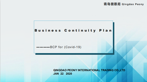 Business Continuity Plan For Covid-19