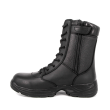 Long zip waterproof tactical full leather boots 6216
