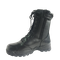 black military ranger boots with side Zipper