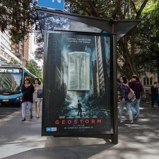10. Geostorm brought the storm to the streets of Australia!