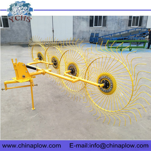 Finger wheel hay rake for tractor