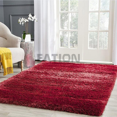Happy Red Warm Area Rug Soft Shag Carpet