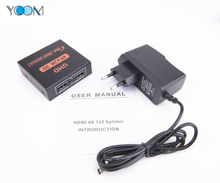 1X2 HDMI Splitter 4Kx2K Support 3D with 2Ports
