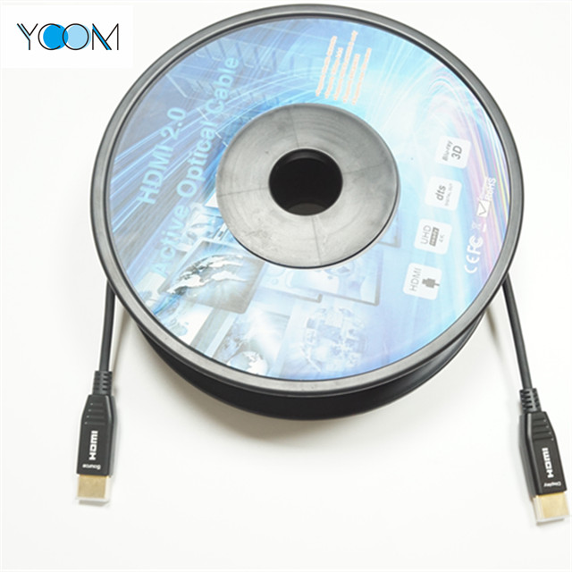 Ultra Slim D Type Fiber Optical HDMI 2.0 Cable