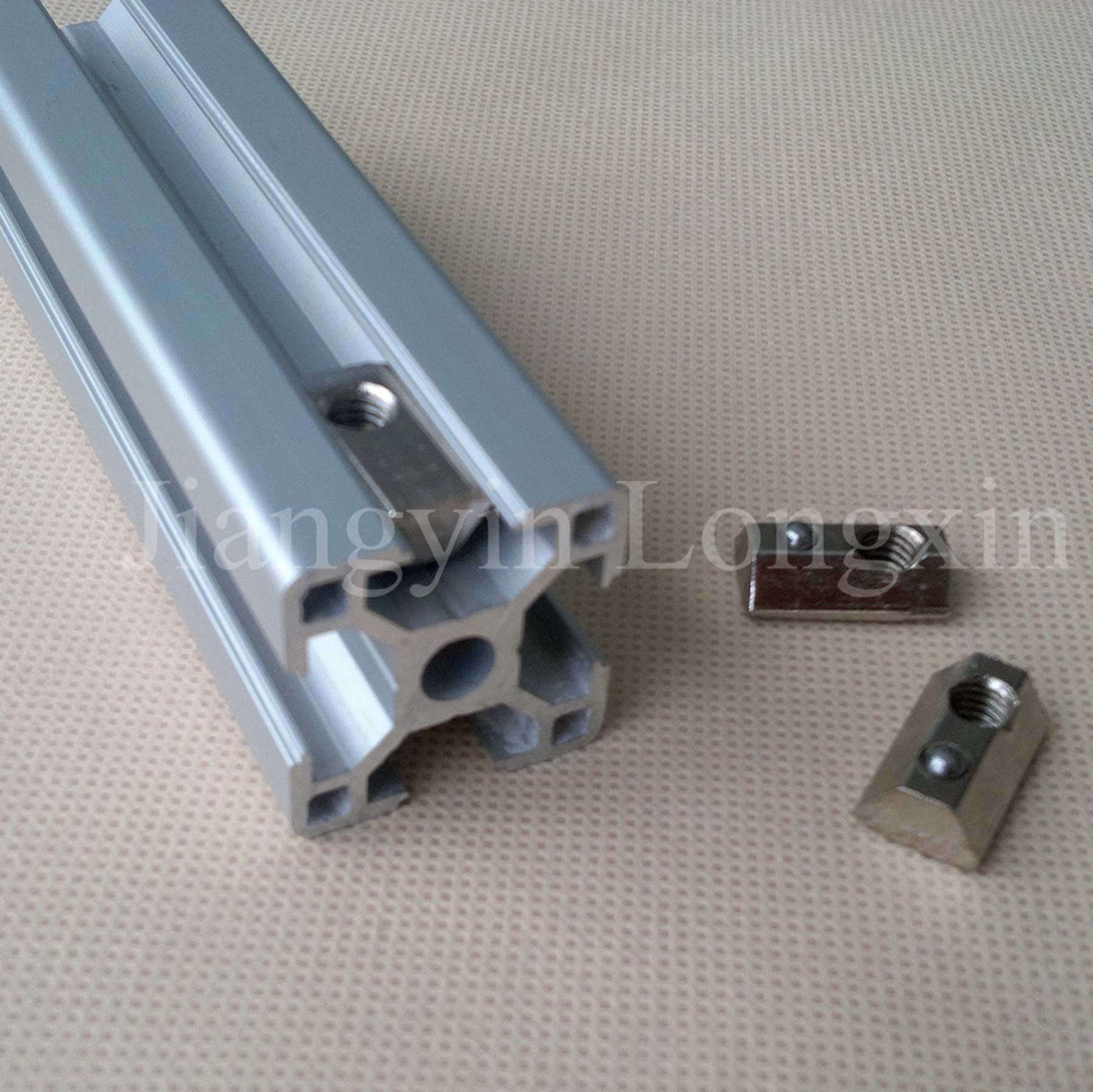 Silver Anodized Aluminium Profile for Industry with Spare Parts