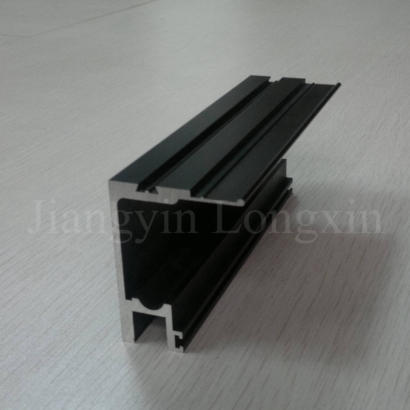 Black Anodized Aluminium Profile for Windows