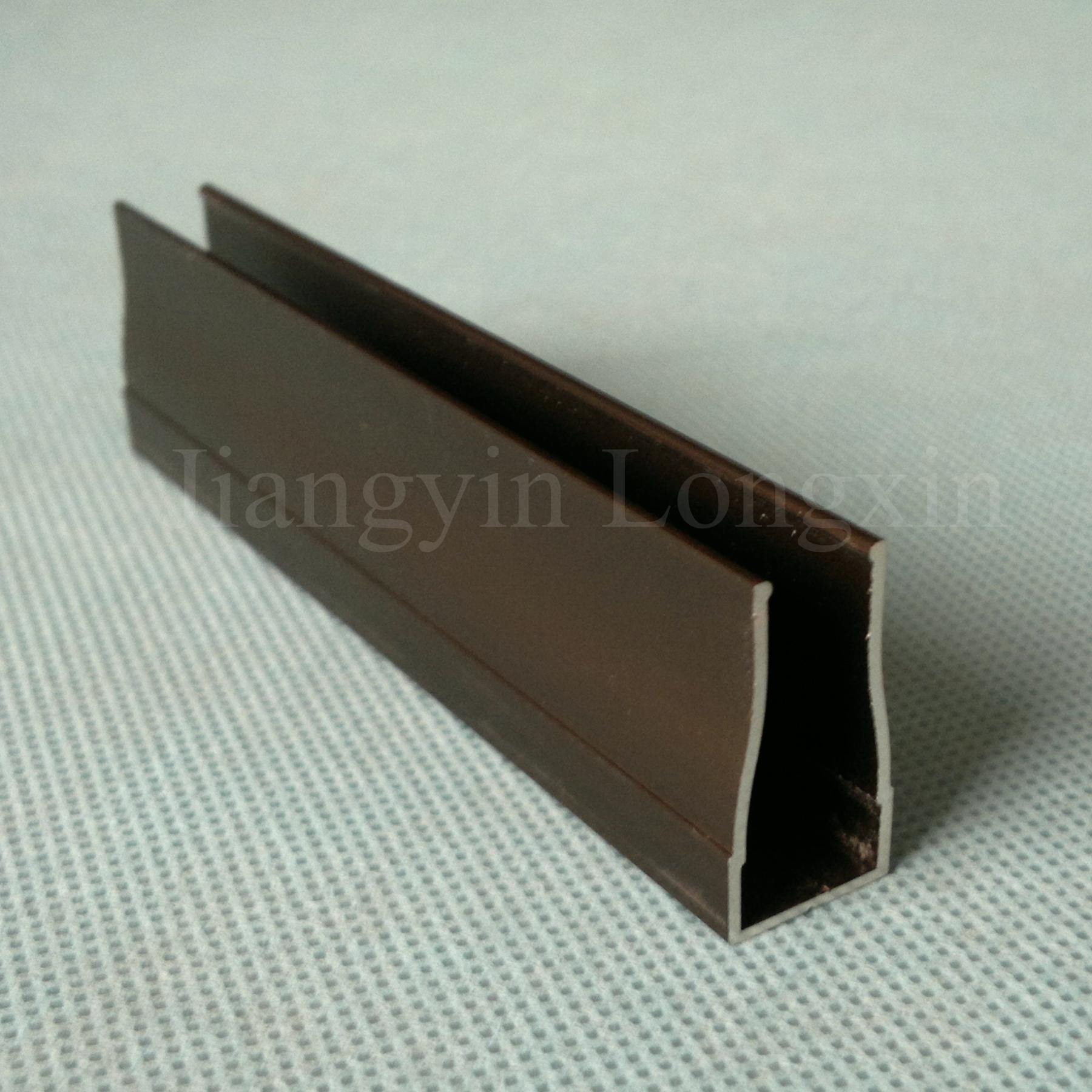 Brown Anodized Aluminum Frame for Windows