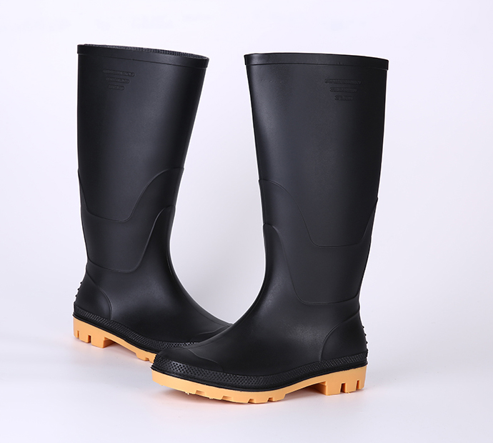 Acid and alkali resistant cheap plastic work boots