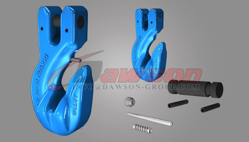 G100 Special Clevis Grab Hook with Safety Pin, Grade 100 Forged Clevis Grab Hook for Chains - China Supplier - Dawson Group Ltd.