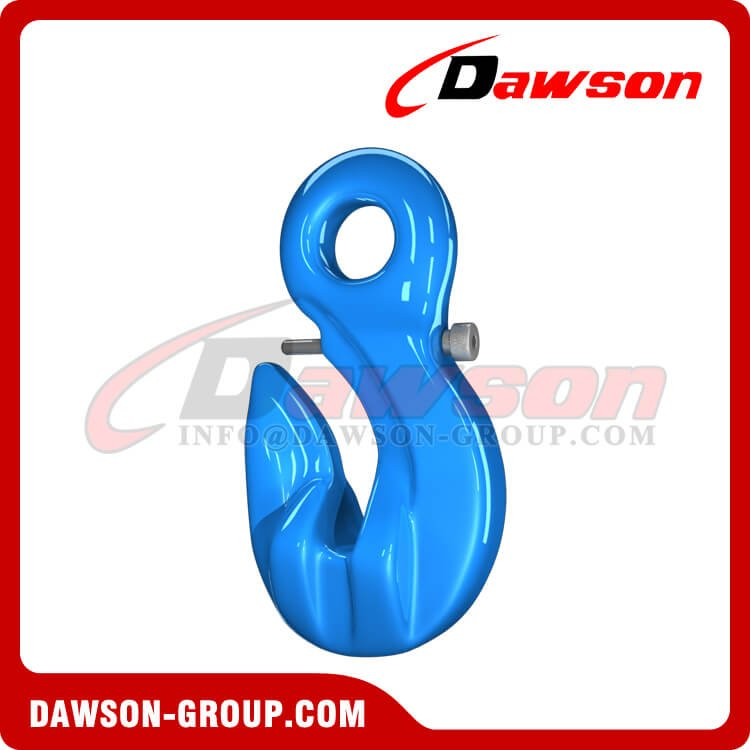 G100 Special Eye Grab Hook with Safety Pin, Grade 100 Forged Alloy Steel Eye Grab Hook for Chains - China Supplier, Factory