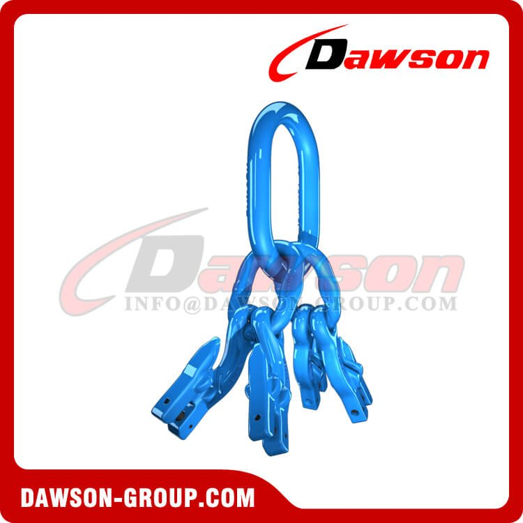 G100 Master Link Assembly + G100 Eye Grab Hook with Clevis Attachment×4 - Dawson Group Ltd. - China Factory, Exporter