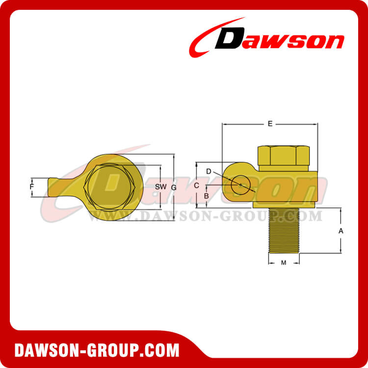 G80 Heavy Duty Swivel Hoist Ring - China Supplier