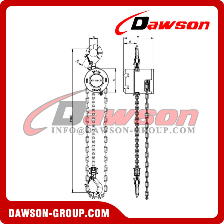 250KG Mini Aluminum Alloy Chain Hoist, Chain Block - Dawson Group Ltd. - China Supplier, Factory