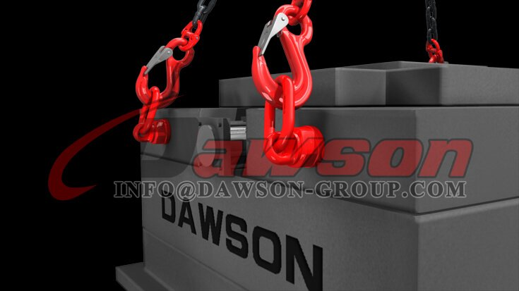 Application of G80 Alloy Steel Eye Sling Hook with Cast Latch for Lifting Chain Slings - Dawson Group Ltd. - China Supplier, Factory