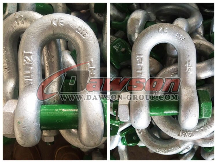 G2150 Hot Dip Galvanized US Type Chain Shackle - China Factory, Supplier