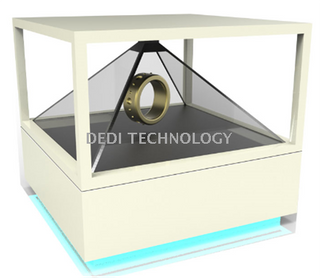 360 degree holographic display cabinet