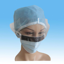 Nonwoven Antifog Face Mask with Black Antiglisten Strap