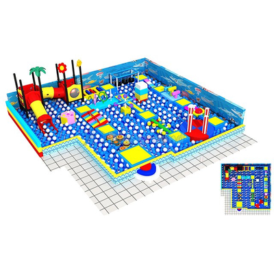 Ocean Theme Indoor Playground Ball Pit with Soft Obstacle