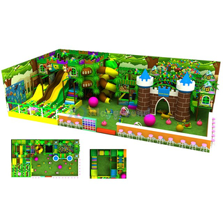 Jungle Theme Kids Soft Indoor Adventure Playground with Electric Toys