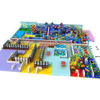 Large Amusement Park Kids Indoor Playground Equipment with Soft Buildings