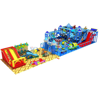 Ocean Themed Amusement Park Kids Soft Indoor Playground with Inflatable Playground