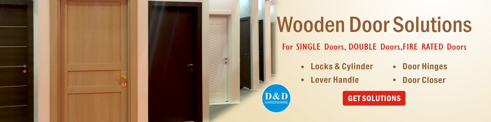 Wooden Door Solutions-D&D hardware manufacturer