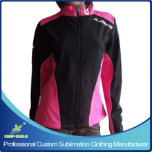 Custom Women's Windproof Cycling Coat with Screen Printing Logo