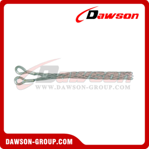 Wire Rope Grips, Double Eye Cable Socks Type B