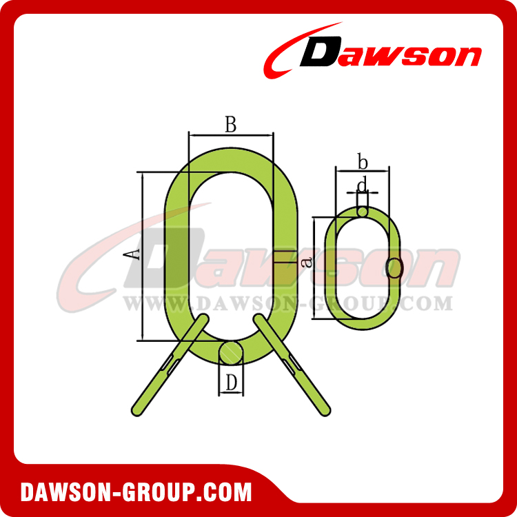 DS1012 G100 Master Link Assembly With Flat for Wire Rope Lifting Slings
