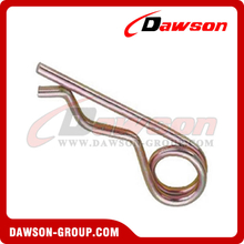 Hair Pin With Eyelet Zinc Plated