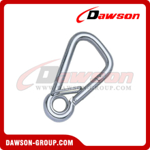 Stainless Steel Oblique Angle Snap Hook with Eyelet and Spring Pin