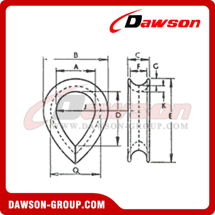 BS464 Wire Rope Thimble dawson group - Dawson Group Ltd. - China Manufacturer, Supplier, Factory, Exporter