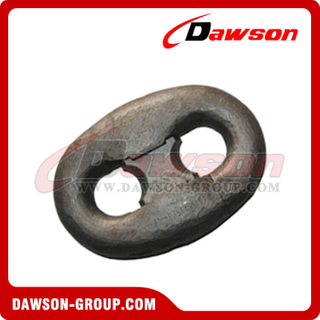 Black Painted Connecting Link Kenter Shackle for Oil Platform Mooring Chain