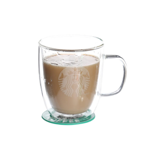 500ml double wall glass mugs