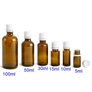 Amber Glass Essential Bottles