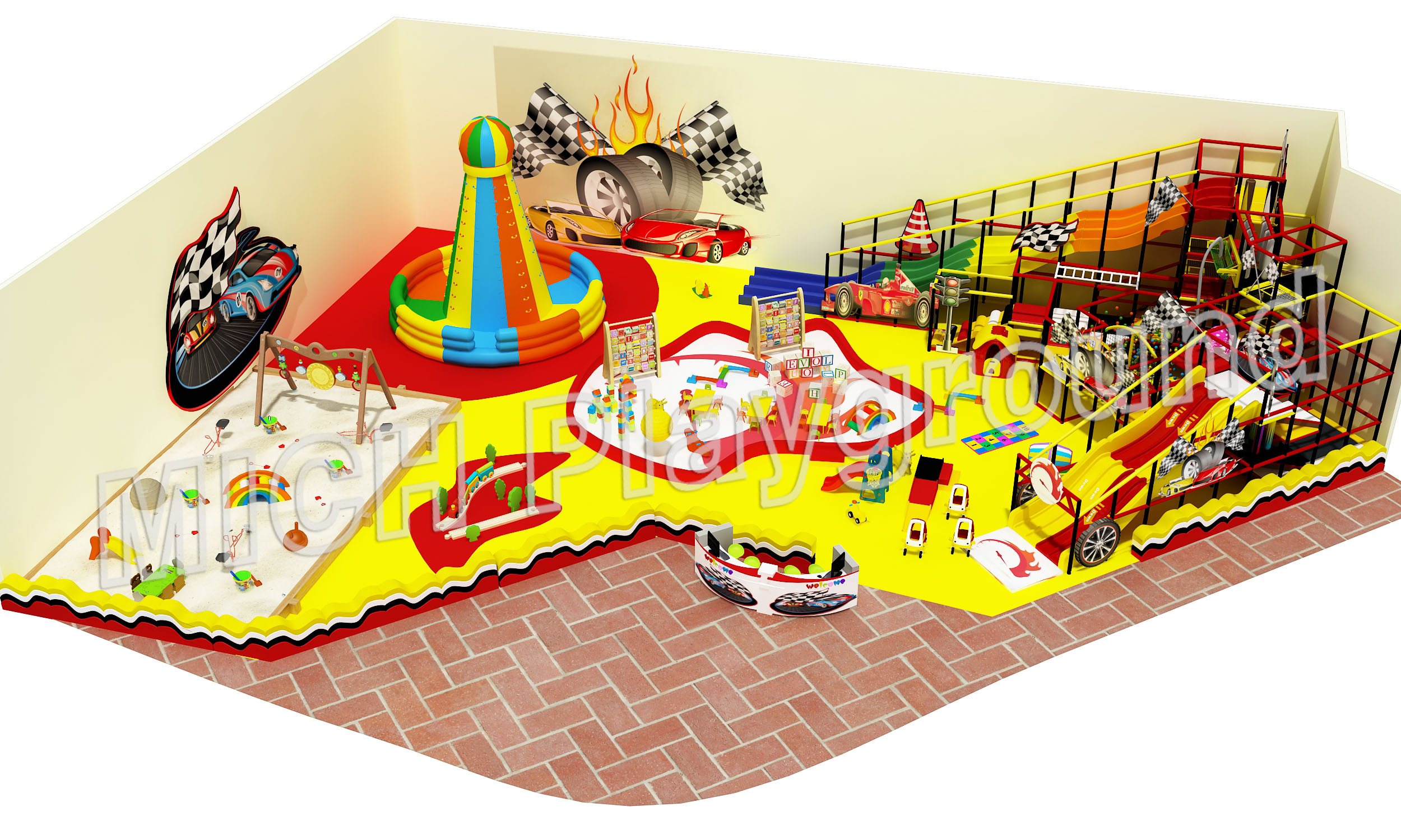 Mich Funny Indoor Amusement Playground 6622A