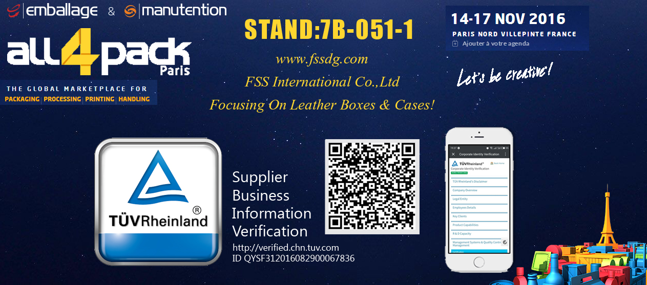 【FSS Trade Show】All4Pack Paris Trade Show-Stand 7B051-01