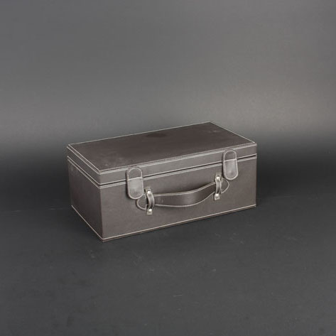 Wine Box Manufacturer Black PU leather wooden wine boxes