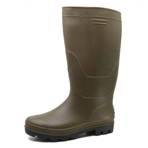 Anti Slip Steel Toe Puncture Resistant PVC Safety Rain Boots for Work