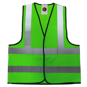 Green 120 Grams Polyester High Visibility Reflective Safety Vest