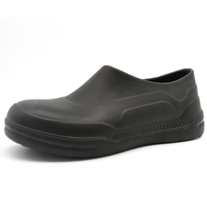 Black PU Oil Water Resistant Anti Slip Non Safety Restaurant Kitchen Chef Shoes