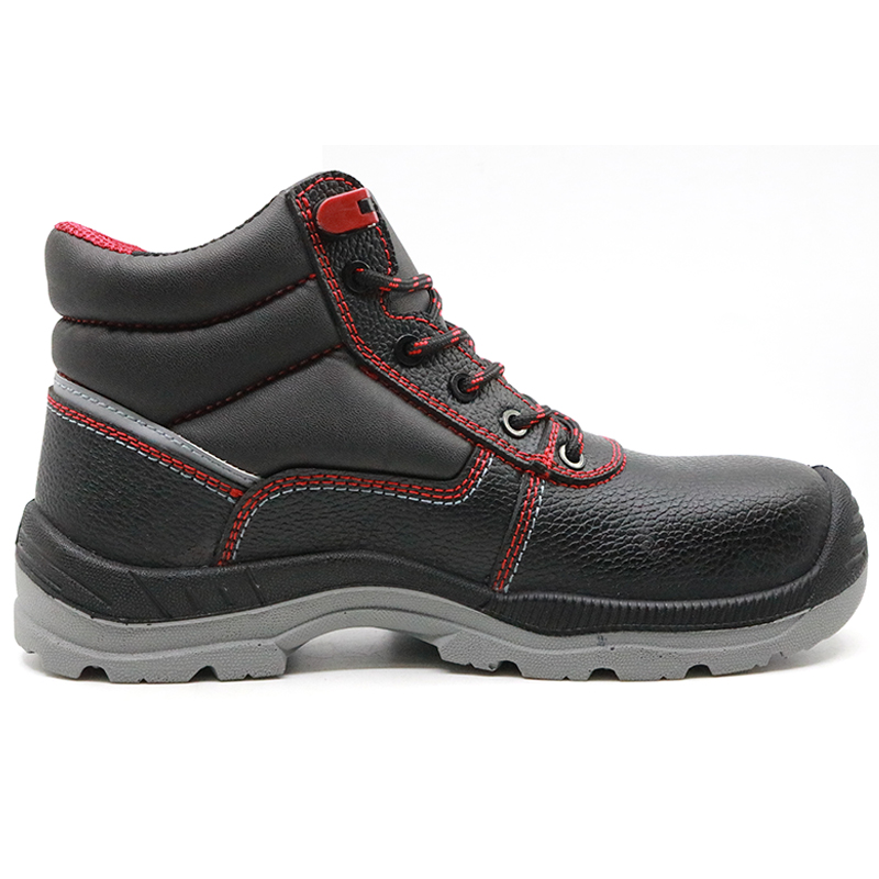 Black leather metal free insulation 18KV electrical work safety shoes for men