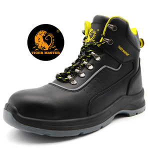 Tiger Master Brand Prevent Puncture Safety Boots Steel Toe Cap