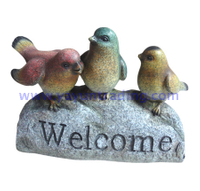 hand painted seasonal home decoration resin bird