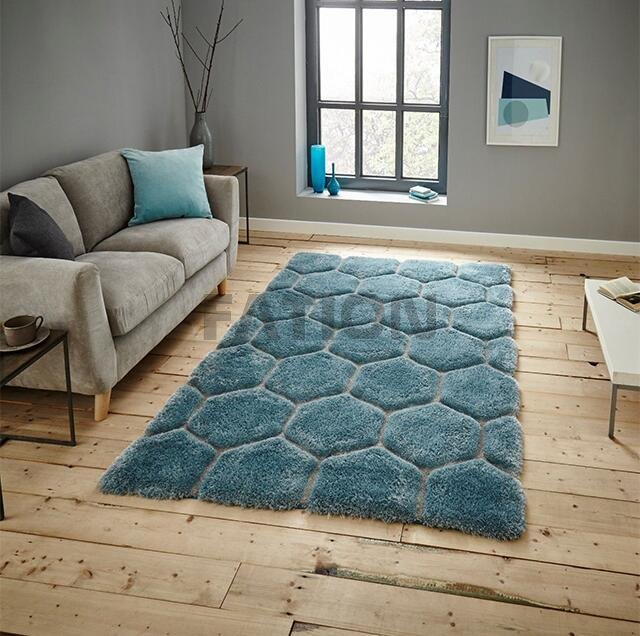 Super Soft Home Decor Area Rug 3D Shaggy Carpet