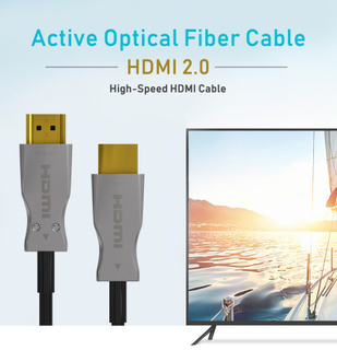 High Speed HDMI 2.0 Fiber Optic Cable Support 3D