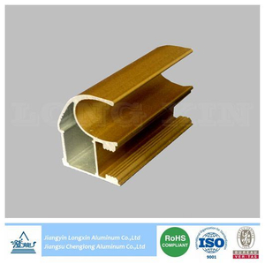 Champagne Anodized Aluminum Extrusion for Sliding Door