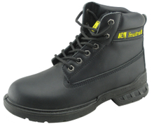 Genuine leather men working safety boots