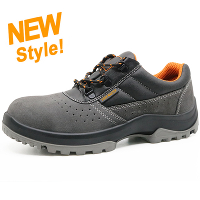 ENS017 New design suede leather steel toe anti static breathable work shoe