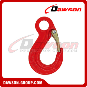 DS332 G80 Eye Sling Hook with Latch for Lifting Chain Slings
